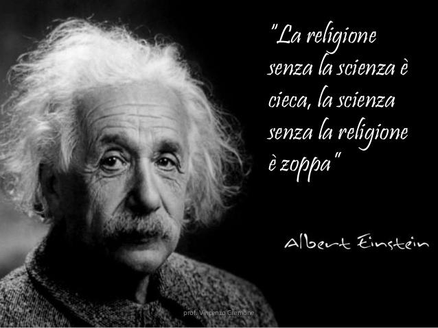 A quanto pare per Einstein la religione sarebbe indispensabile. Chissà però cosa intendesse per religione quell'illuminato...